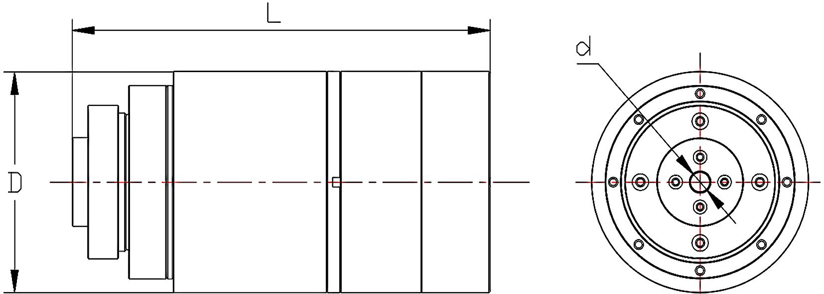 CJU一体化关节产品外形图